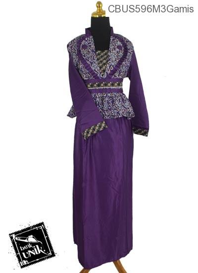 Baju Batik Sarimbit Gamis Motif Godhong Alas Mego Gamis