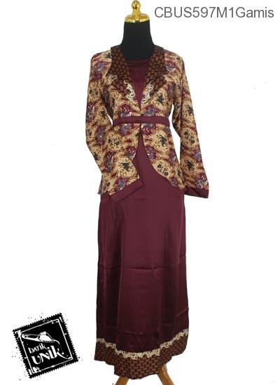 Baju Batik Terbaru  Sarimbit Gamis Motif Wadas Abstrak Tumpal