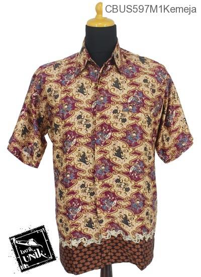 Baju Batik Terbaru  Sarimbit Kemeja Motif Wadas Abstrak Tumpal
