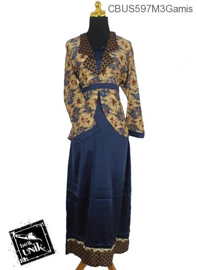 Baju Batik Sarimbit Gamis Motif Wadas Abstrak Tumpal