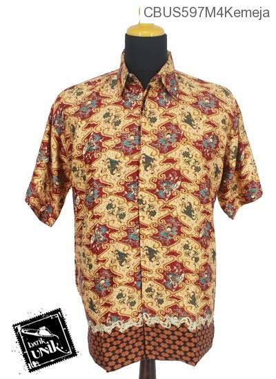Baju Batik Sarimbit Kemeja Motif Wadas Abstrak Tumpal