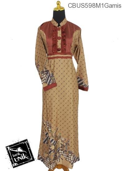 Baju Batik Terbaru  Sarimbit Gamis Semi Sutra Motif Jagad Truntum