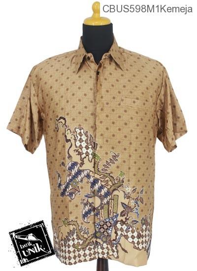 Baju Batik Terbaru  Sarimbit Kemeja Semi Sutra Motif Jagad Truntum