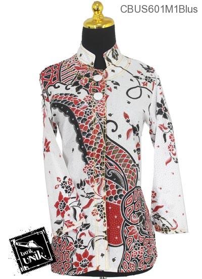 Baju Batik Terbaru  Sarimbit Blus Katun Motif Sisik Riti