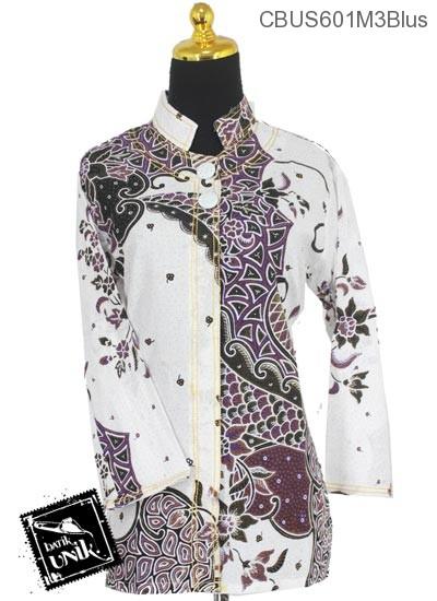 Baju Batik Sarimbit Blus Katun Motif Sisik Riti
