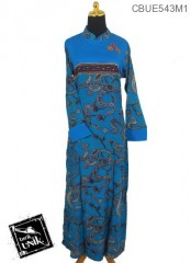 Baju Batik Gamis Motif Regolan Batang