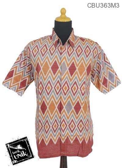 Baju Batik Kemeja Klaten Motif Rang Rang Tumpuk