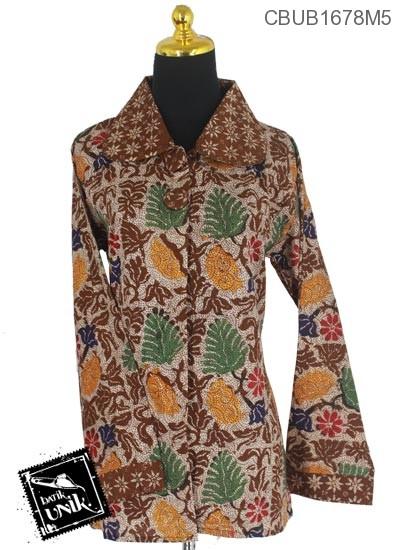 Blus Batik Panjang Motif Kembang Kertas Alas