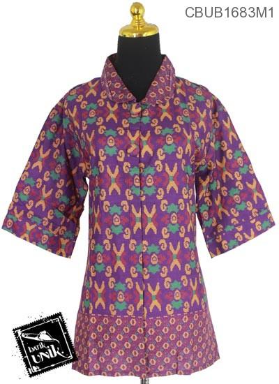 Blus Batik Terbaru  Tanggung Motif Sulam Kluwer X
