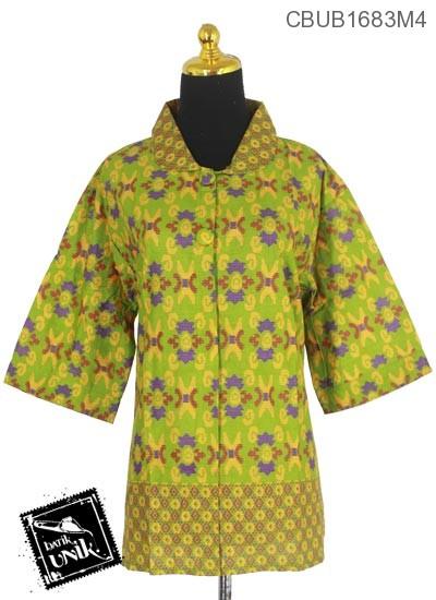 Blus Batik Tanggung Motif Sulam Kluwer X