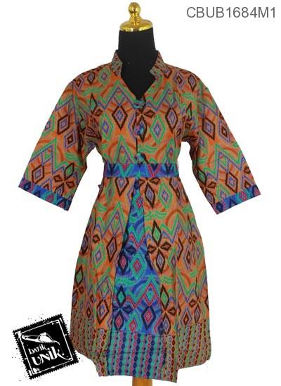 Baju Batik Dress Motif Cluntang Anyam