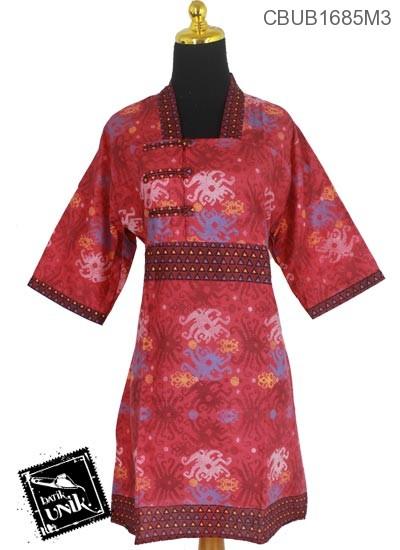Dress Batik Katun Motif Sulam Gurita