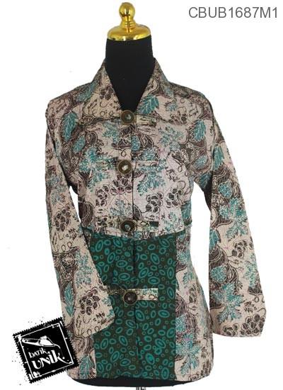 Blus Batik Terbaru  Panjang Motif Godhong Cap Ceprot