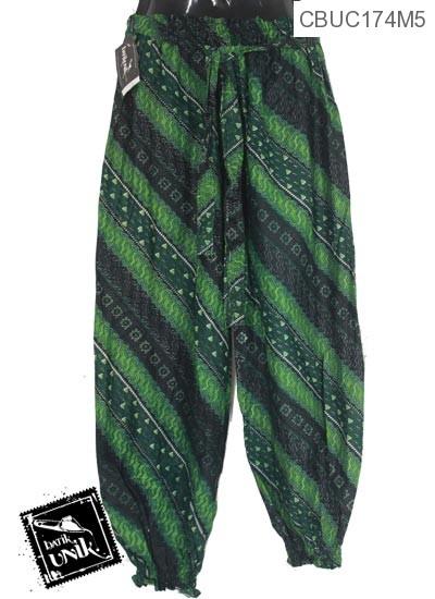 Celana Aladin Motif Liris Sawut XL hijau