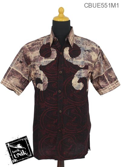 Baju Batik Terbaru  Kemeja Katun Primis Motif Abstrak Engkol