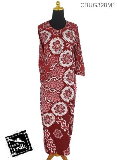 Longdress Batik Terbaru  Santhung Motif Matahari Isi Kembang