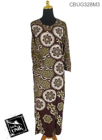 Longdress Batik Santhung Motif Matahari Isi Kembang