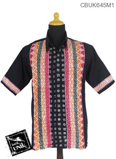 Baju Batik Terbaru  Kemeja Motif Udan Liris Polos