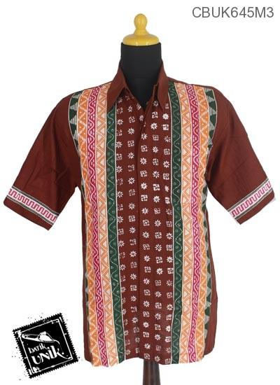 Baju Batik Kemeja Motif Udan Liris Polos