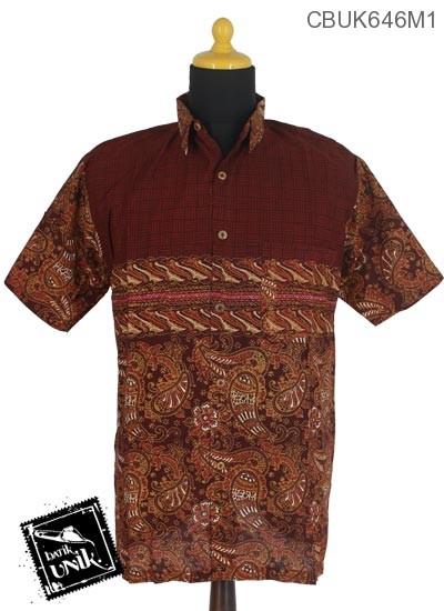 Baju Batik Kemeja Motif Kotemporer Tumpal Nduwur
