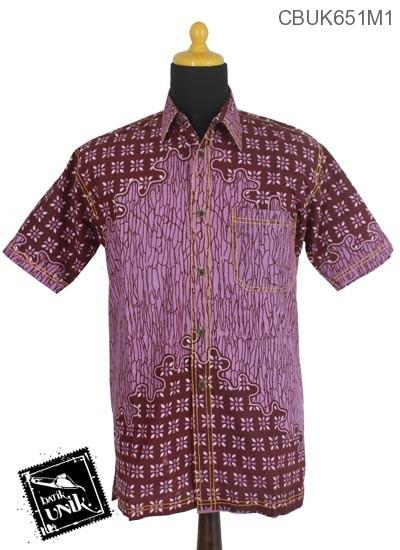 Baju Batik Terbaru  Kemeja Motif Sontrot Kembang Truntum
