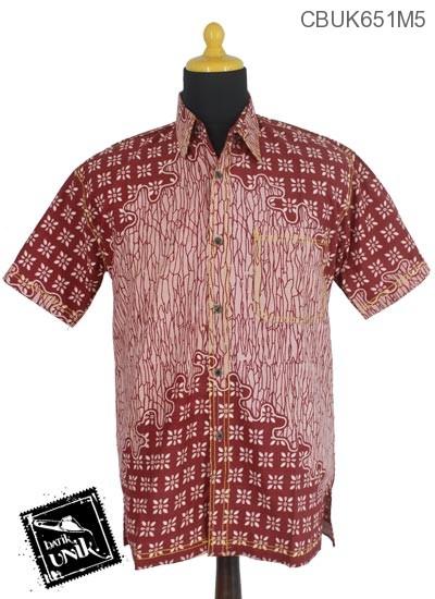 Baju Batik Kemeja Motif Sontrot Kembang Truntum
