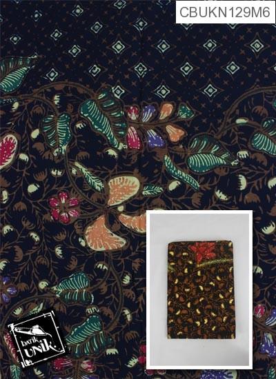 Kain Batik Cap Motif Kembang Krokot Cemeng