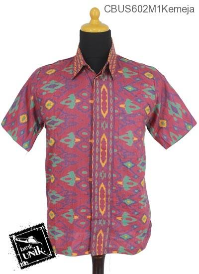 Baju Batik Sarimbit Kemeja Motif Tenun Tetris