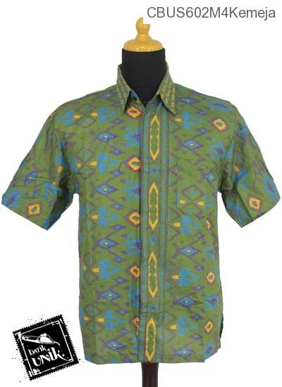 Baju Batik Sarimbit Kemeja Motif Tenun Tetris Kemeja