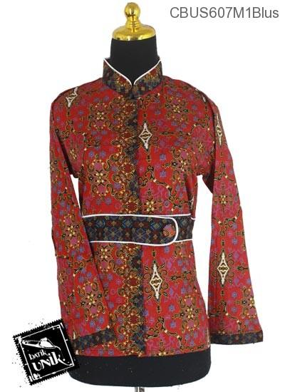 Baju Batik Terbaru  Sarimbit Blus Katun Motif Godhong Warna Alas