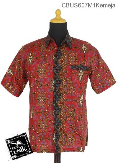 Baju Batik Terbaru  Sarimbit Kemeja Katun Motif Godhong Warna Alas