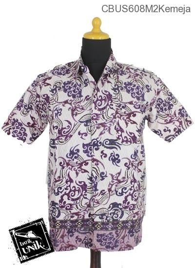 Baju Batik Sarimbit Kemeja Katun Motif Mego Uncalan Tumpal