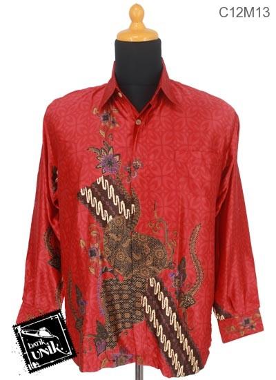 Baju Batik Terbaru  Kemeja Panjang Motif Truntum Alas Cumi CUCI GUDANG!!