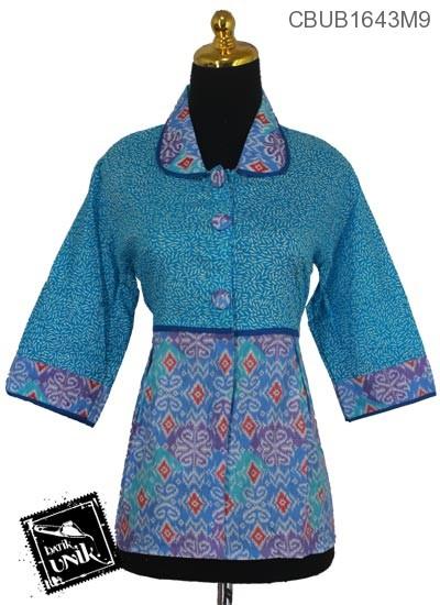 Baju Batik Blus Tanggung Motif Manik Kembang Rendeng