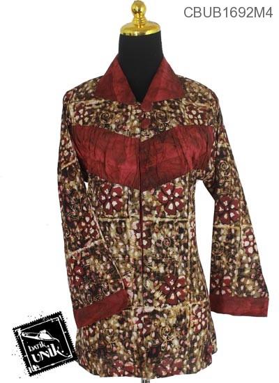 Blus Batik Panjang Motif Ketapang Kotemporer