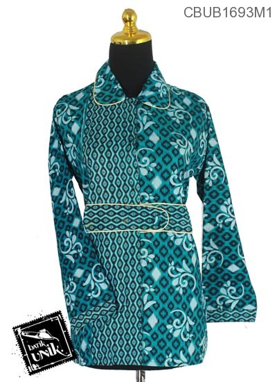 Baju Batik Terbaru  Blus Panjang Pekalongan Motif Songket Alas Pancing