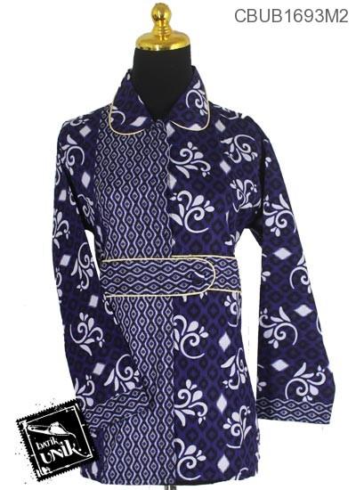 Baju Batik Blus Panjang Pekalongan Motif Songket Alas Pancing