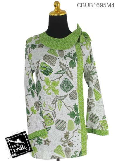 Baju Batik Blus Panjang Motif Batu Tumpal Baris