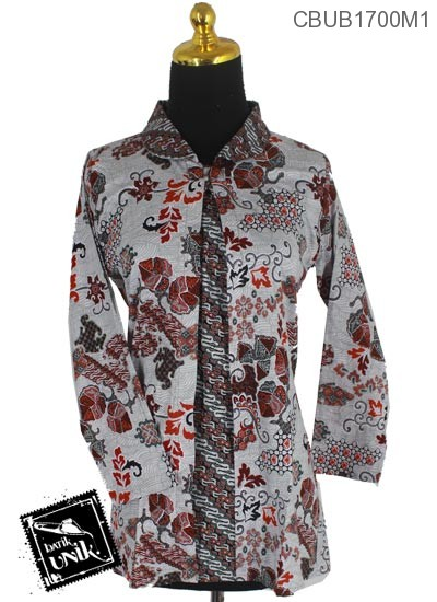 Blus Batik Terbaru  Panjang Katun Motif Parang Serat Godhong