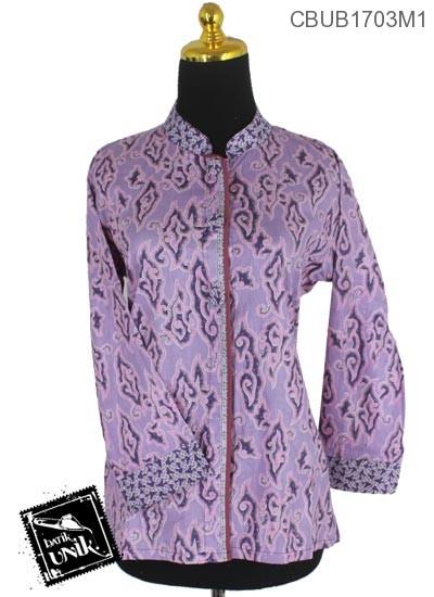 Blus Batik Terbaru  Panjang Motif Megamendung