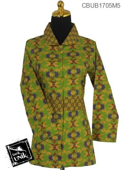 Blus Batik Panjang Motif Sulam Kluwer X
