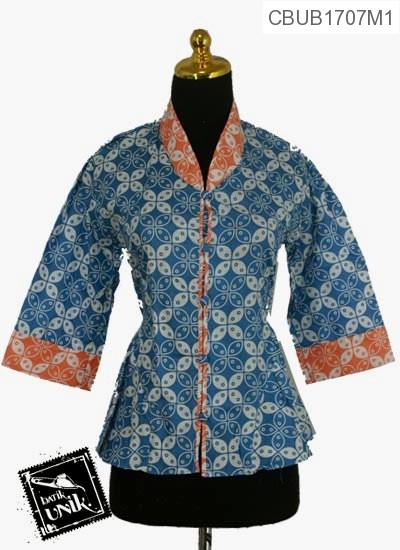 Blus Batik Terbaru  Tanggung Motif Kawung Warna