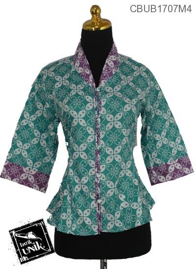Blus Batik Tanggung Motif Kawung Warna