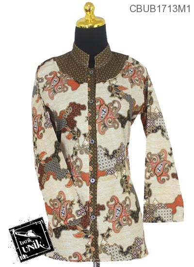 Baju Batik Blus Panjang Motif Jagad Cumi Tumpal