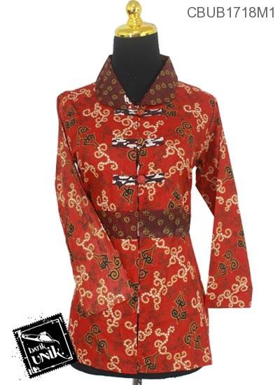 Baju Batik Terbaru  Blus Panjang Motif Wadas Monte