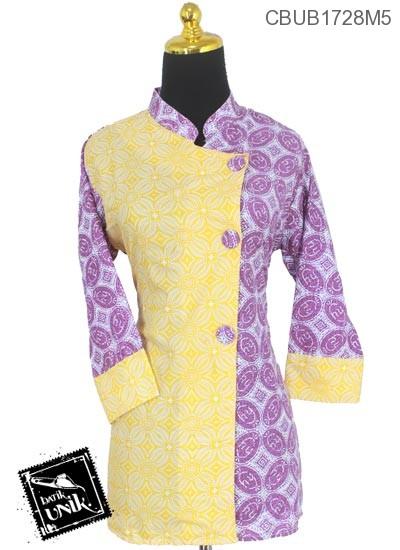 Blus Batik Panjang Motif Godhongan Kotemporer