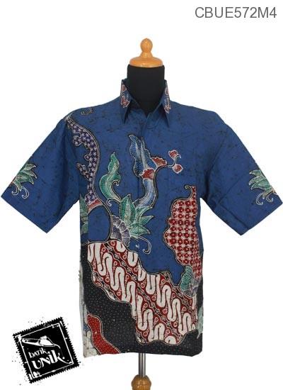 Kemeja Batik Katun Motif Parang Jagad Abstrak