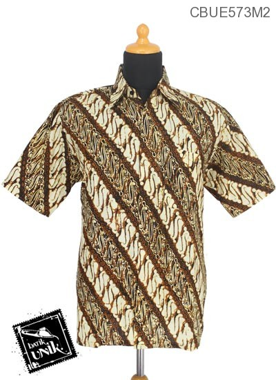 Baju Batik Kemeja Ekslusive Katun Motif Sogan Batangan