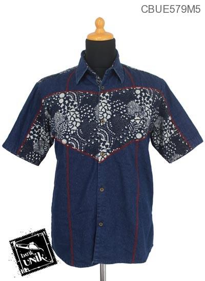 Baju Batik Kemeja Jeans Motif Kotemporer Jagad