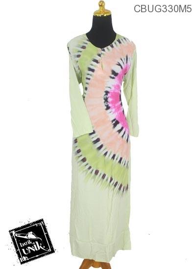 Baju Batik Longdress Motif Pelangi Bundel